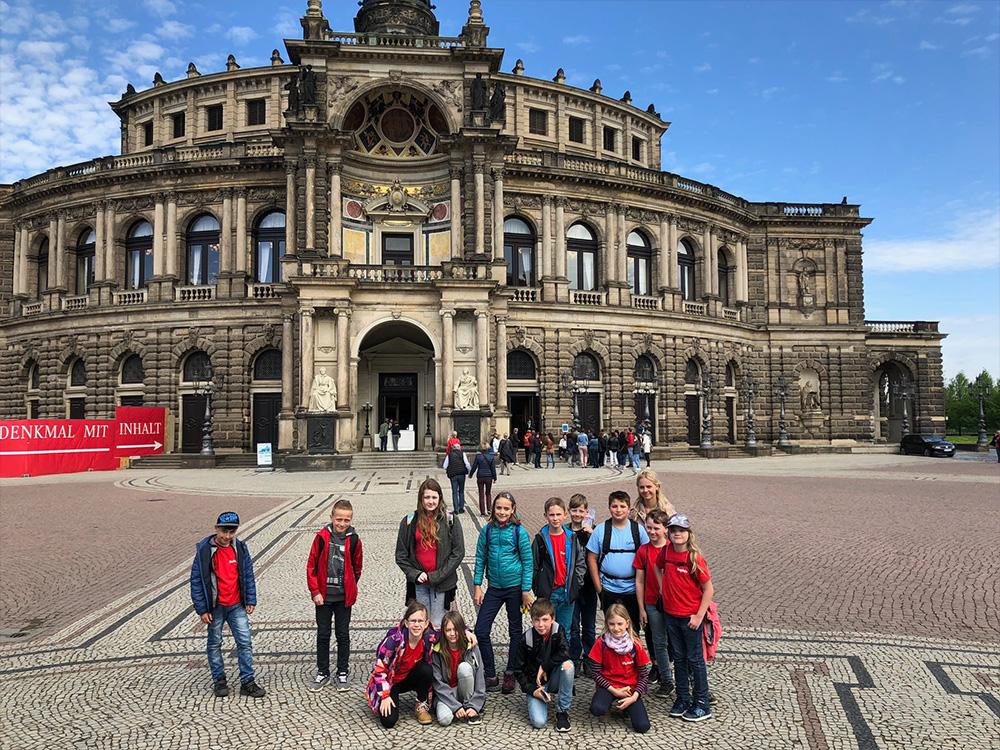 Klasse 4 macht Dresden unsicher